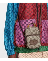 Gucci Schultertasche Neo Vintage GG Supreme Mini - Natur