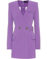 David Koma Cady Minidress - Purple