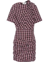 Étoile Isabel Marant - Oria Draped Plaid Cotton Dress - Lyst