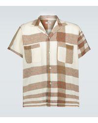 Bode Plaid Linen Bowling Shirt - Multicolor