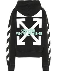 Off-White c/o Virgil Abloh Felpa Waterfall a stampa in cotone - Nero