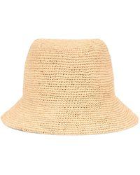 Gucci Raffia Bucket Hat - White