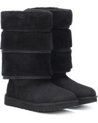 Y. Project X UGG Triple Cuff Boots - Black