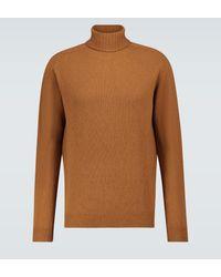 Sunspel Jersey de lana de cordero - Marrón