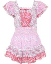 LoveShackFancy Stanton Mini Dress - Pink