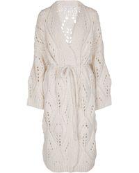 Brunello Cucinelli Alpaca And Wool Longline Cardigan - White