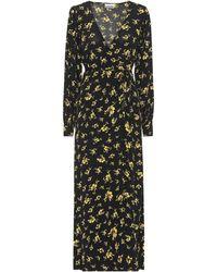 Ganni Floral Maxi Dress - Black