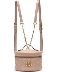 Gucci - GG Marmont Mini Leather Backpack - Lyst