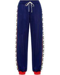 Gucci Cotton-blend Trackpants - Blue