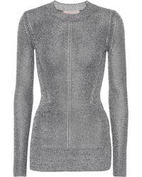 Christopher Kane - Metallic Jersey Sweater - Lyst