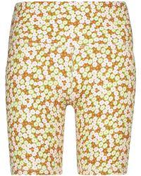 Tory Sport Floral High-rise Biker Shorts - Multicolour