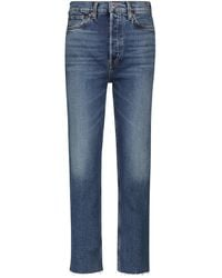 RE/DONE Stove Pipe Ultra High-rise Jeans - Blue