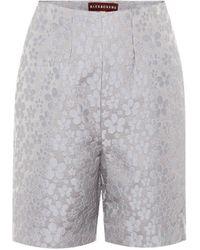ALEXACHUNG High-rise Jacquard Shorts - Multicolour