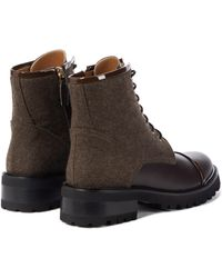 Malone Souliers Ankle Boots Bryce aus Leder - Braun