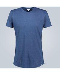 Orlebar Brown T-Shirt OB-T aus Baumwolle - Blau