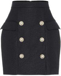 Balmain High-rise Miniskirt - Black