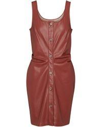 Nanushka Ernie Faux Leather Minidress - Red