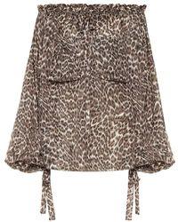 Zimmermann - Blusa a stampa leopardata in seta - Lyst