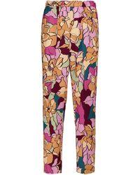 Dries Van Noten Floral Straight-leg Trousers - Pink