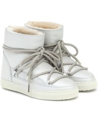 Inuikii Ankle Boots Classic aus Leder - Weiß