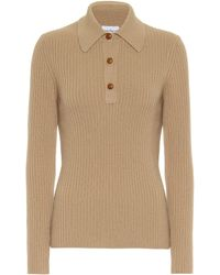 Ferragamo Wool-blend Polo Shirt - Natural