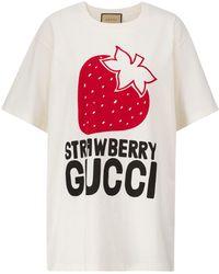 Gucci Logo Cotton T-shirt - White