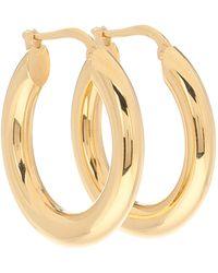 Jil Sander Small Hoop Earrings - Metallic