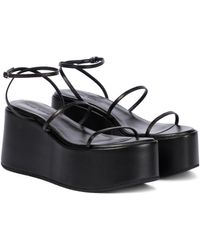 Magda Butrym Leather Platform Sandals - Black