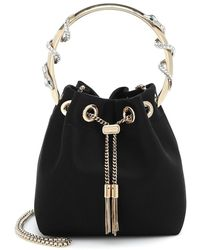 Jimmy Choo Secchiello Bon Bon in raso - Nero