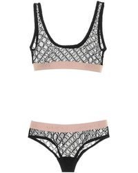 Gucci Set lingerie in tulle - Nero