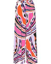 Emilio Pucci Printed Jersey Pants - Multicolor