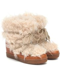 Isabel Marant Nowles Faux-shearling Snow Boots - Multicolour