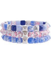 Isabel Marant Set de 3 pulseras - Azul