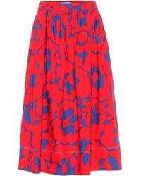 Marni Floral Midi Skirt - Red