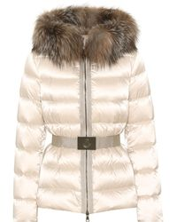 Moncler - Tatie Fur-trimmed Down Jacket - Lyst