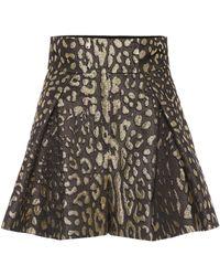 Dolce & Gabbana - Shorts de brocado de tiro alto - Lyst