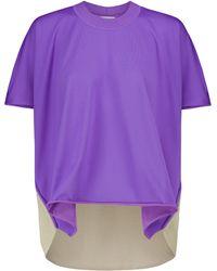 Bottega Veneta Camiseta de punto fino - Morado