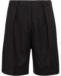 Victoria, Victoria Beckham Mid-rise Bermuda Shorts - Black