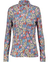 Isabel Marant Camicia Lettyae in jersey con stampa floreale - Blu
