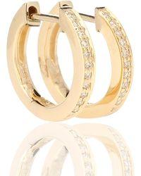 Sydney Evan Huggie 14kt Gold And Diamond Earrings - Metallic