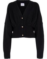 Galvan London Luna Wool And Cashmere-blend Cardigan - Black