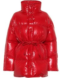 Acne Studios Drawstring Puffer Jacket - Red