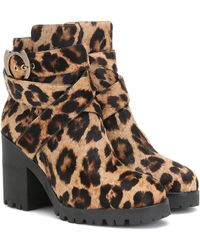 Charlotte Olympia Leopard-print Calf Hair Ankle Boots - Multicolor