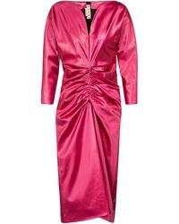 Marni Vestido midi de satén drapeado - Rosa