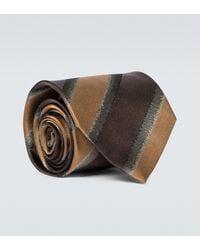Dries Van Noten Cravatta in seta - Multicolore