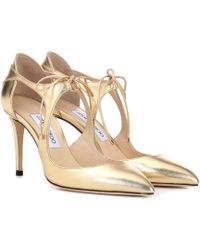 Jimmy Choo - Vanessa 85 Leather Pumps - Lyst