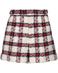 Gucci Karierte Shorts aus Tweed - Rot