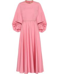 ROKSANDA Fife Cotton-poplin Dress - Pink