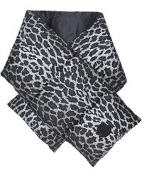Moncler - Écharpe matelassée à motif léopard - Lyst