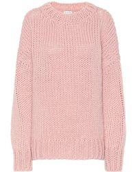 Dries Van Noten Pullover in lana e mohair - Rosa